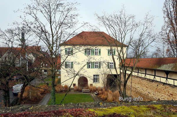 Blick von der Bastion auf das alte Vogthaus in Kirchheim/Teck