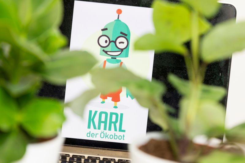 Karl soll dabei helfen umweltfreundliche Gewohnheiten zu entwickeln und den Einstieg in das Thema Nachhaltigkeit zu erleichtern
