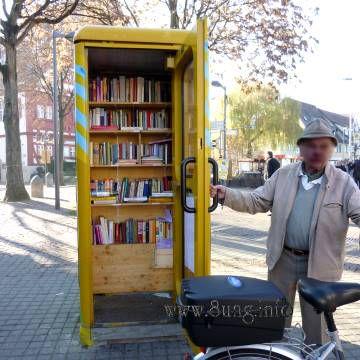 ❢ Clever: Mini-Bibliothek - Öffnungszeiten täglich von 0 bis 24 Uhr