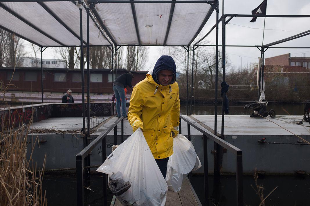 Müllangeln in Wilhelmsburg