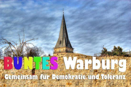 """Das Motto ist eindeutig, der Auftrag ebenso: """"Buntes Warburg – gemeinsam für Demokratie und Toleranz""""."""
