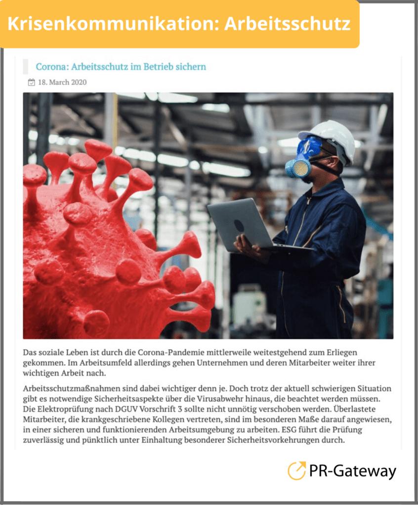 Krisenkommunikation zum Arbeitsschutz