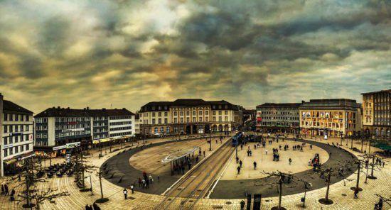 Der Königsplatz in Kassel
